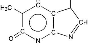 La struttura chimica della caffeina