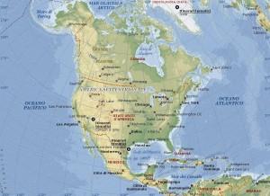 Il nord America Cartina