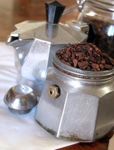 Caffè di cicoria nella moka