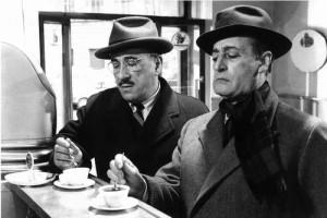 Totò e Peppino che prendono un caffè espresso