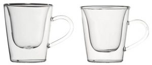 Bormioli Term Duos Confezione 2 Tazzine Espresso in Vetro Trasparente