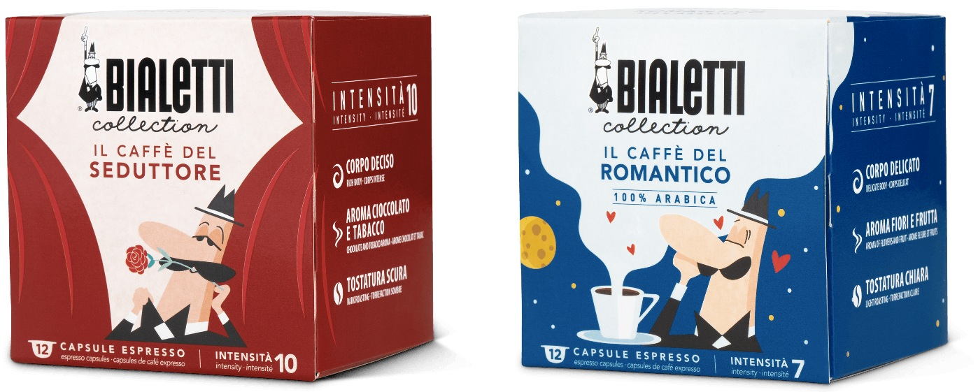 Capsule Bialetti Collection Caffe Seduttore e Romantico