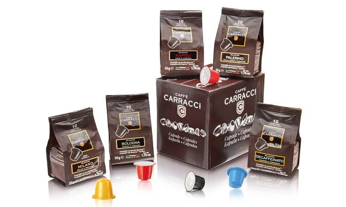 Caffe Carracci miscele prodotti acquisto screen
